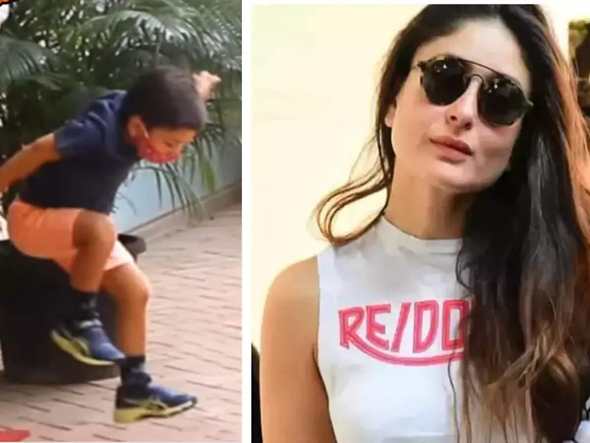 Kareena Kapoor Son Timur Long Jump: Netizens Funny Reaction To Kareena Kapoor Khan Son Timur Long Jump Video: Kareena Kapoor Son Timur Long Jump Video