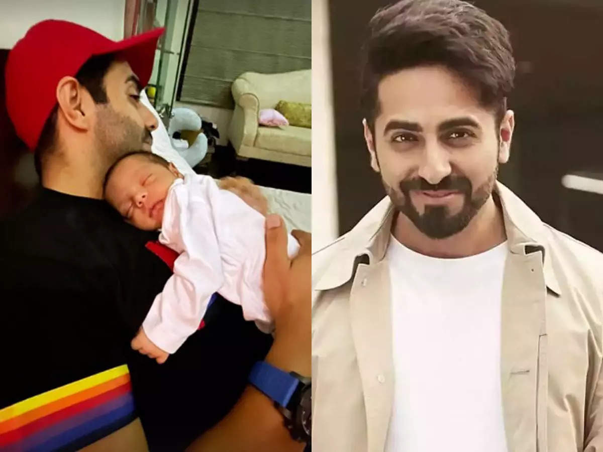 Ayushman Khurana reveals the face of niece Arzoi: Arzoi sleeping in the father