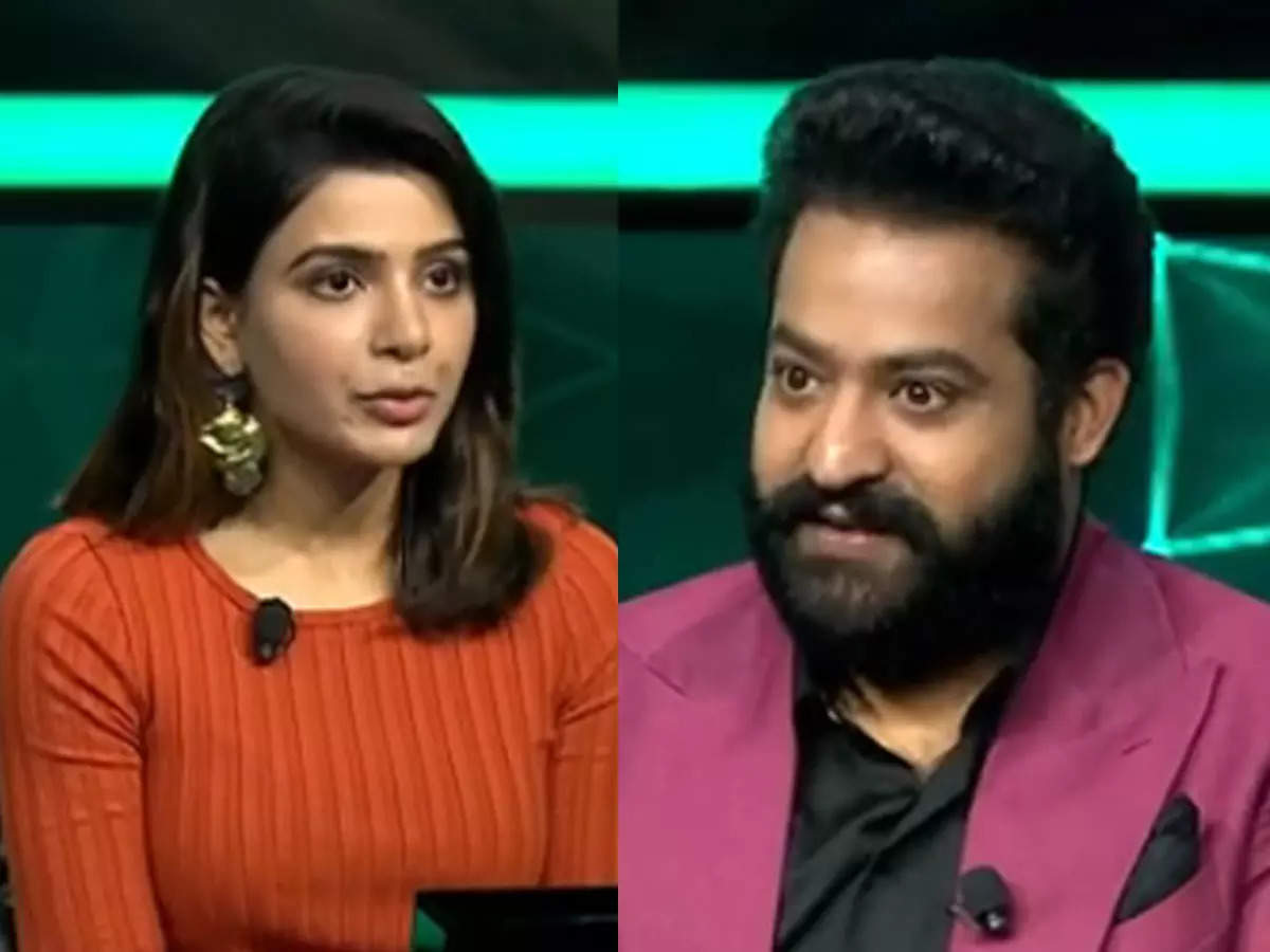 Samantha first public appearance after split: Samantha in Kaun Banega Crorepati Telugu version: shared a promo video of the show.  In it you can see that Samantha welcomes Ruth Lord to the Junior NTR show.