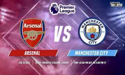 STREAM LIVE: Arsenal Vs Manchester City [Watch Now] PREMIER LEAGUE 2020/2021