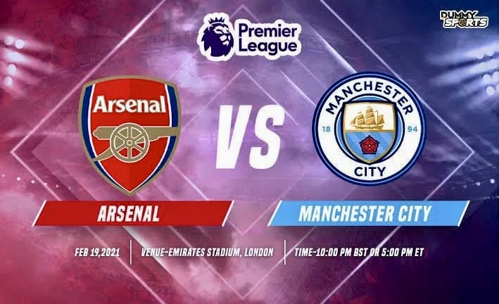 STREAM LIVE: Arsenal Vs Manchester City [Watch Now] PREMIER LEAGUE 2020/2021