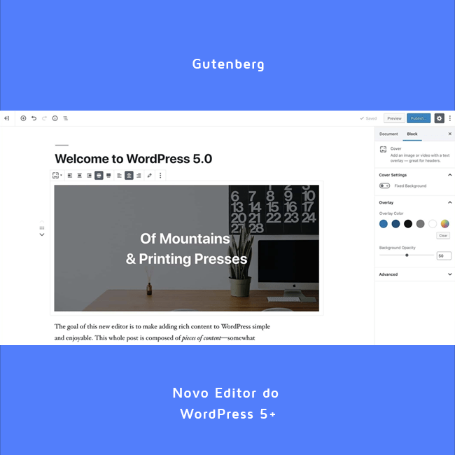 Gutenberg: Novo editor do WordPress 5.+