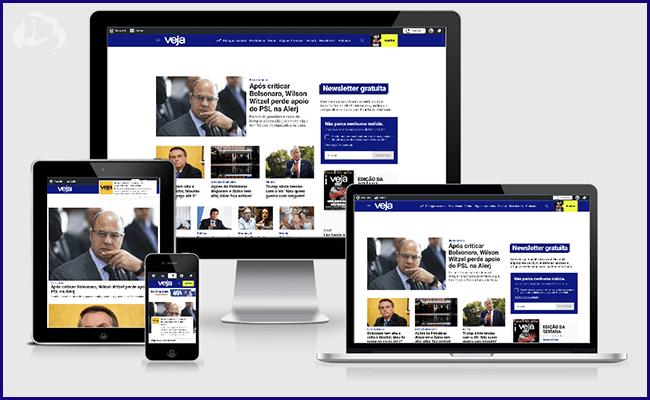 Site da Revista Veja com WordPress