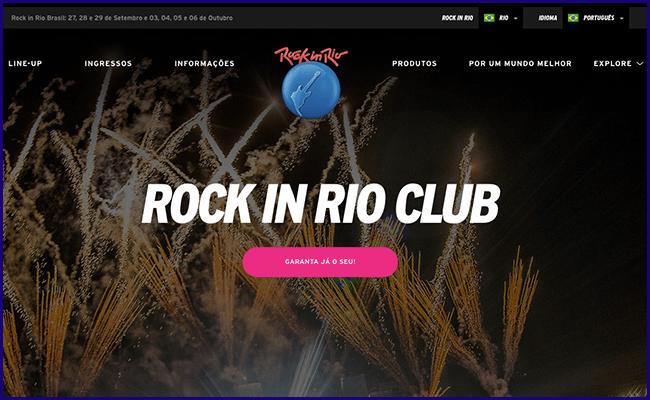 Site Institucional do Rock in Rio