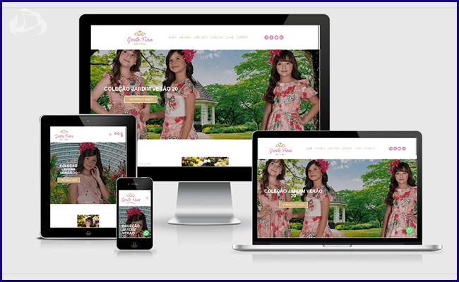 Site para Moda Infantil em WordPress - Gente Fina Kids e Teens