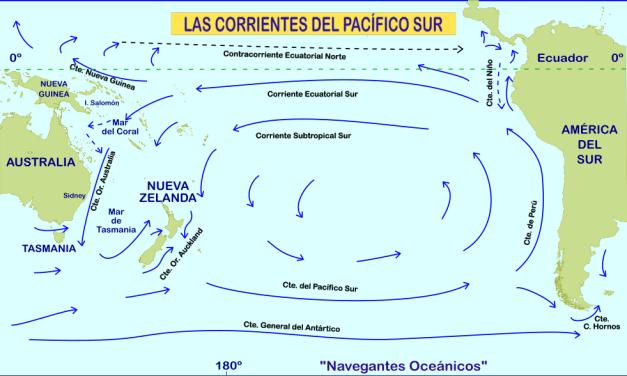 Las corrientes del Pacífico Sur