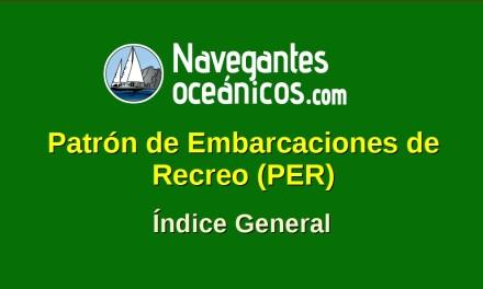 Patrón de Embarcaciones de Recreo (PER). ÍNDICE GENERAL.