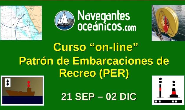 Curso «on-line» de Patrón de Embarcaciones de Recreo (PER)