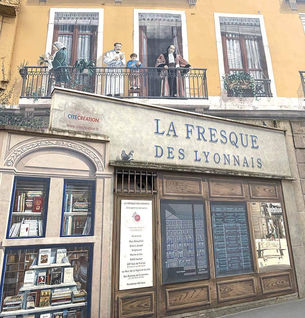 La Fresque des Lyonnais à Lyon