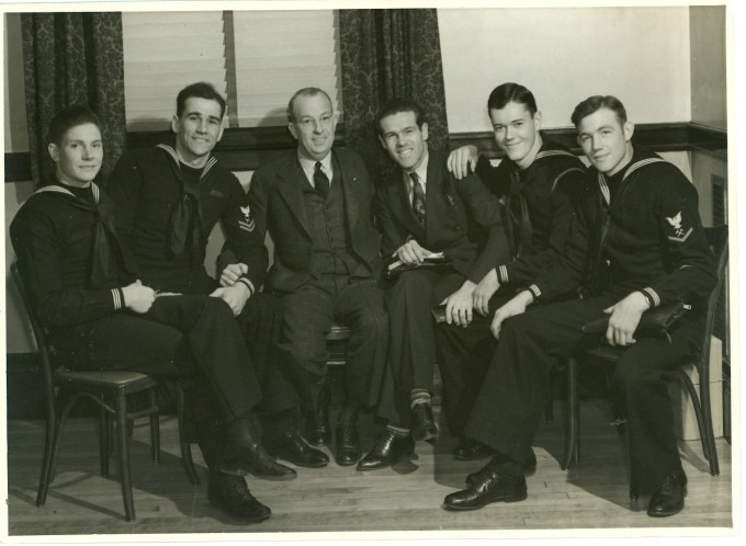 1940 Navigators Gospel Team - From Left Vic McAnney, Ken Watters, Swanson, Dawson Trotman, Gordon Taggart & Oran Bell