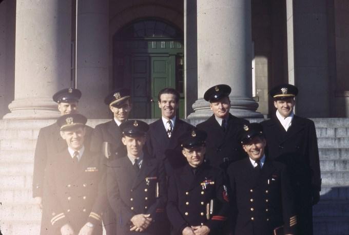 Dawson Trotman, Jim Downing and John Prince with Men in Uniform