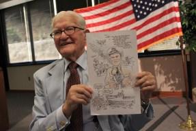 Jim Downing on his 100th Birthday
