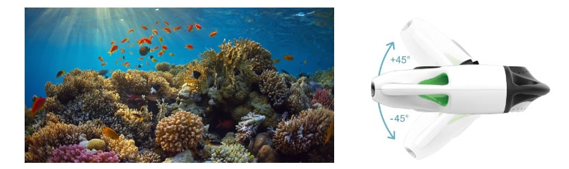 BW Space-Pro 4k Unterwasserdrohne Blickwinkel