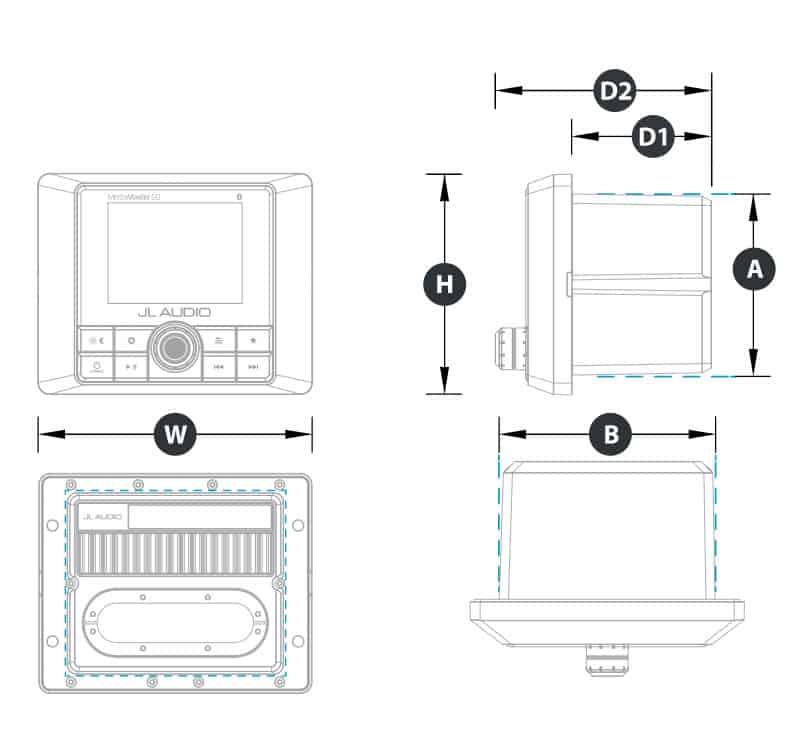 JL Audio MM50 Bedieneinheit mit integriertem Verstärker