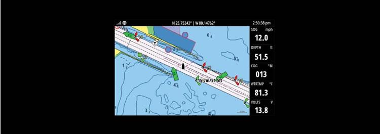 Simrad Cruise Kartenplotter Fishfindermit Seekarte