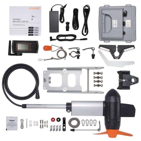 Torqeedo Ultralight 1103 AC Elektro-Außenborder Lieferumfang