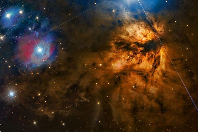 Foto NGC 2024 - Flame Nebula karya Steven Mohr.