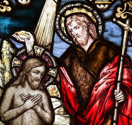 Jesus baptized by john