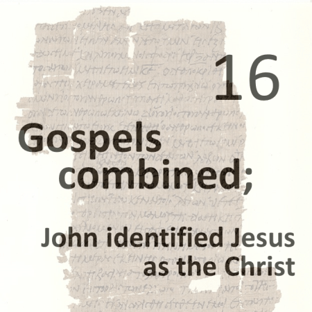 Gospels combined 16 - john identified jesus as the christ