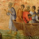 Jesus and the large catch of fish calling Peter and Andrew