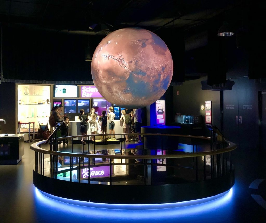 SparkLab Science Centre Brisbane Queensland Museum giant globe