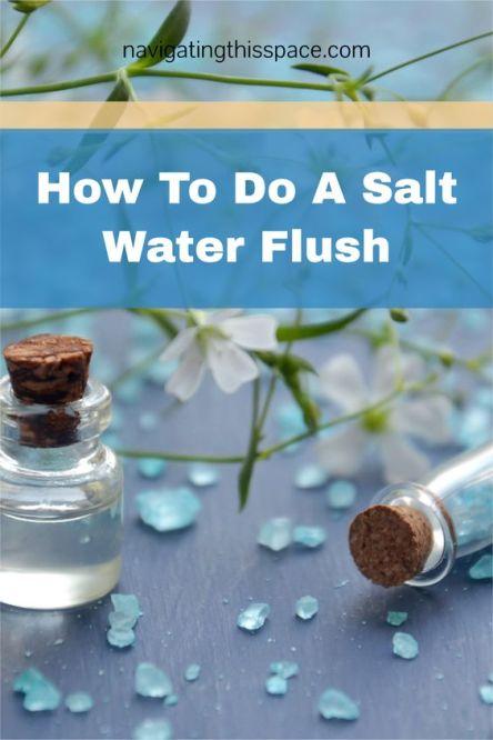 how to do a salt water flush