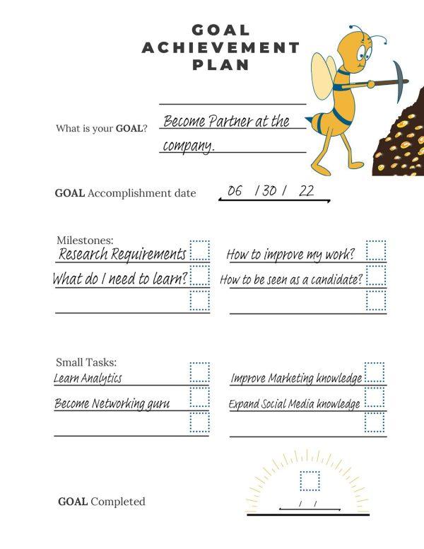 goal-setting worksheet-Goal achievement printable example