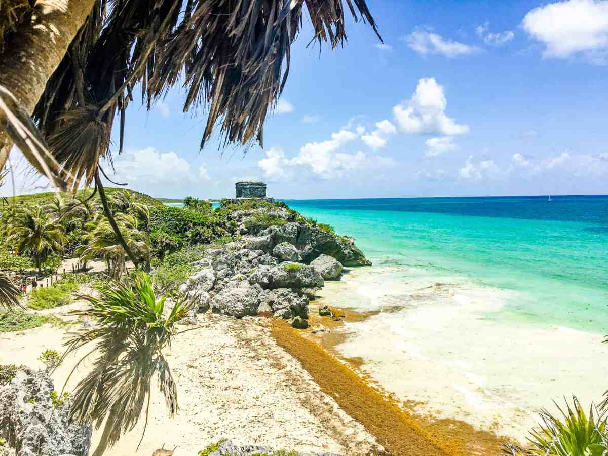 Mayan Ruins temple in Tulum, Mexico
