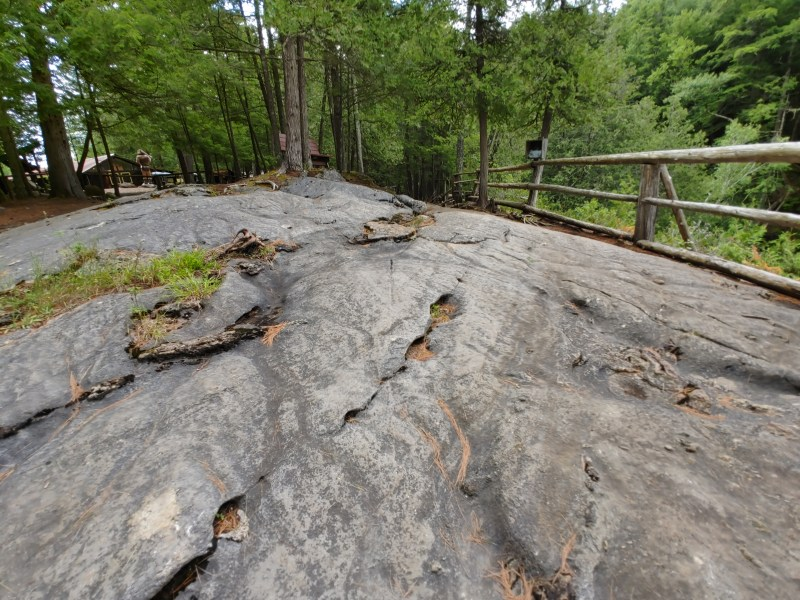 The top of the natural stone bridge
