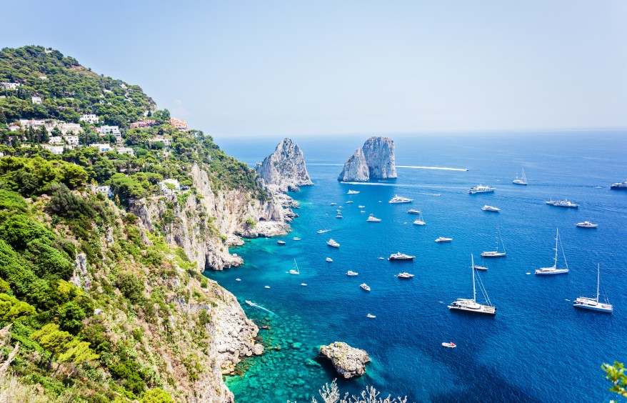 Capri, day trips from Rome.