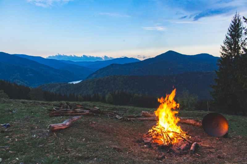 fire, acadia national park.