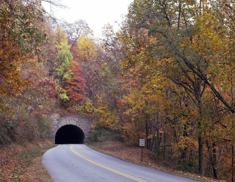 Blue Ridge Parkway, fall foliage in the US