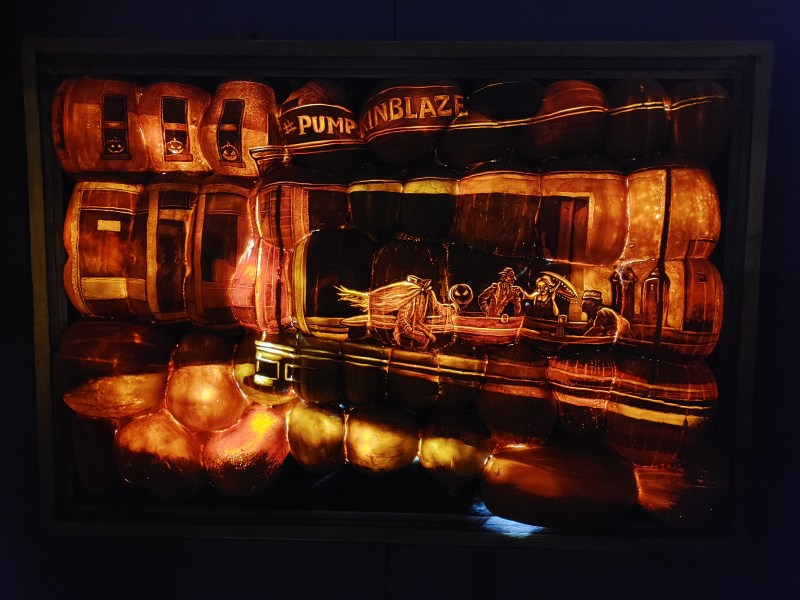 pumpkin art at the Great Jack 'O' Lantern Blaze.