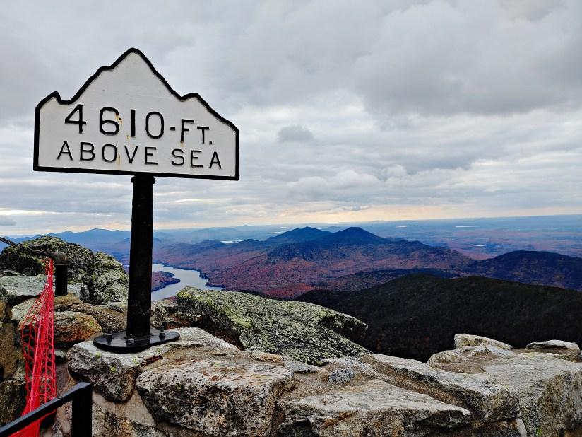Whiteface Castle 4610 feet marker