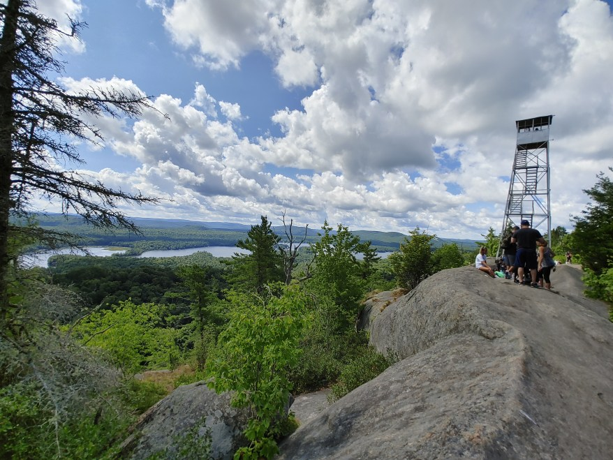 The Rondaxe Fire Tower. Hiking Bald Mountain