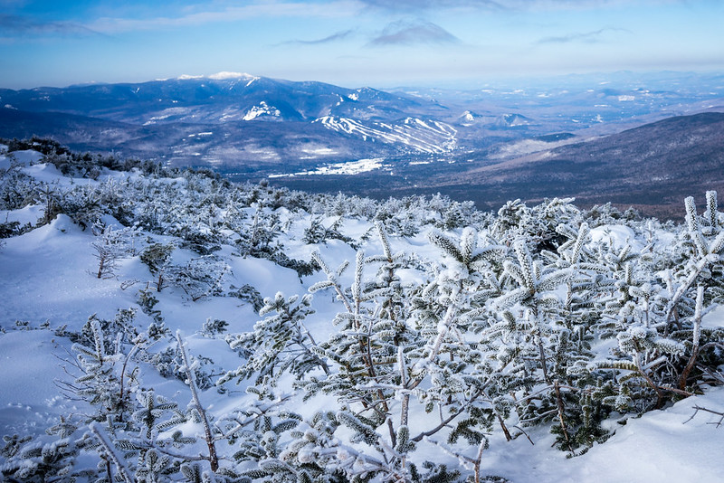 White Mountains, NH. Cold winter family getaways