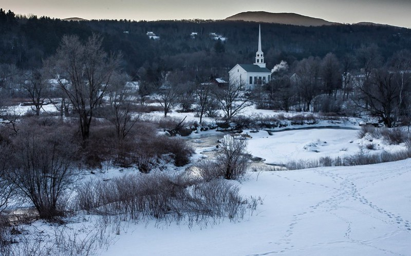 Stowe, Vermont, cold winter family getaways