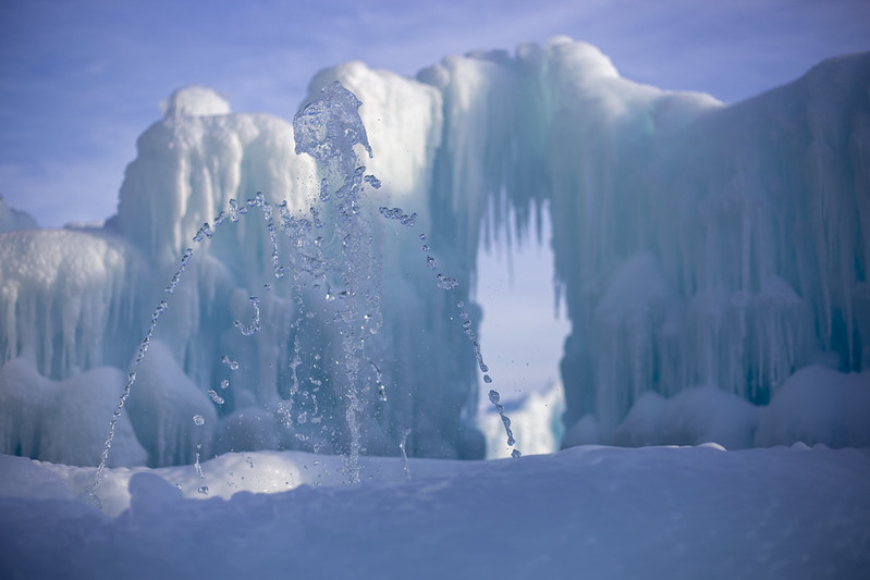Ice Castles Lake Geneva, cold winter family getaways