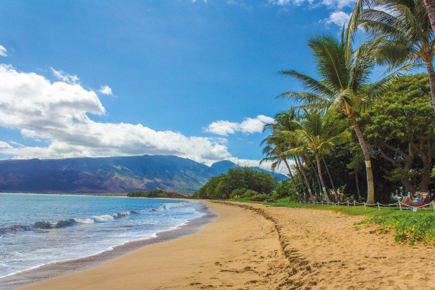 Maui, Hawaii. Warm winter family getaways