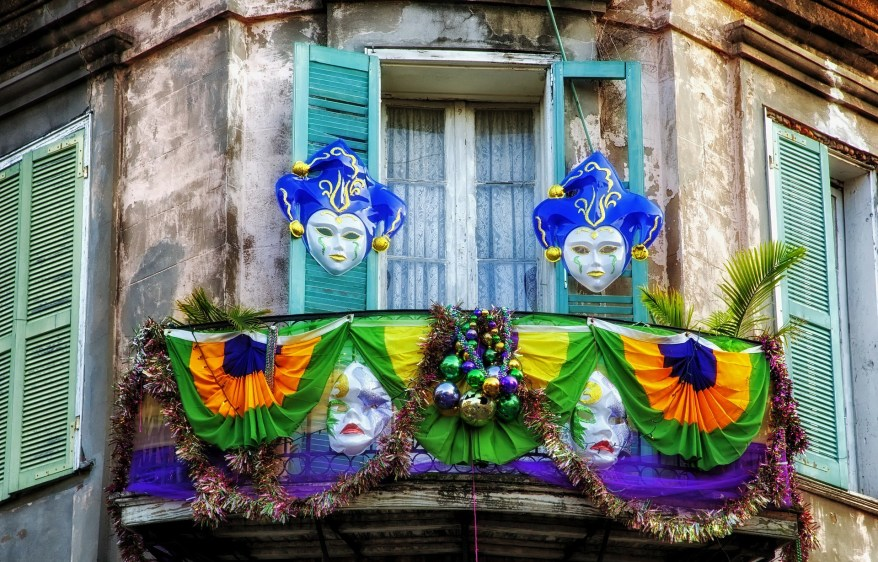 French Quarter, New Orleans, LA. Warm winter getaways for families