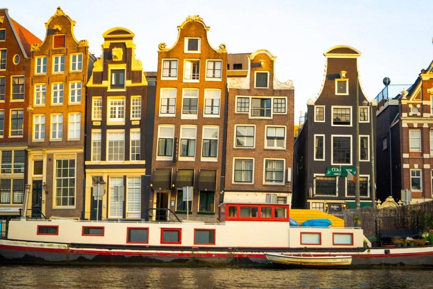Amsterdam street, mom's weekend getaway