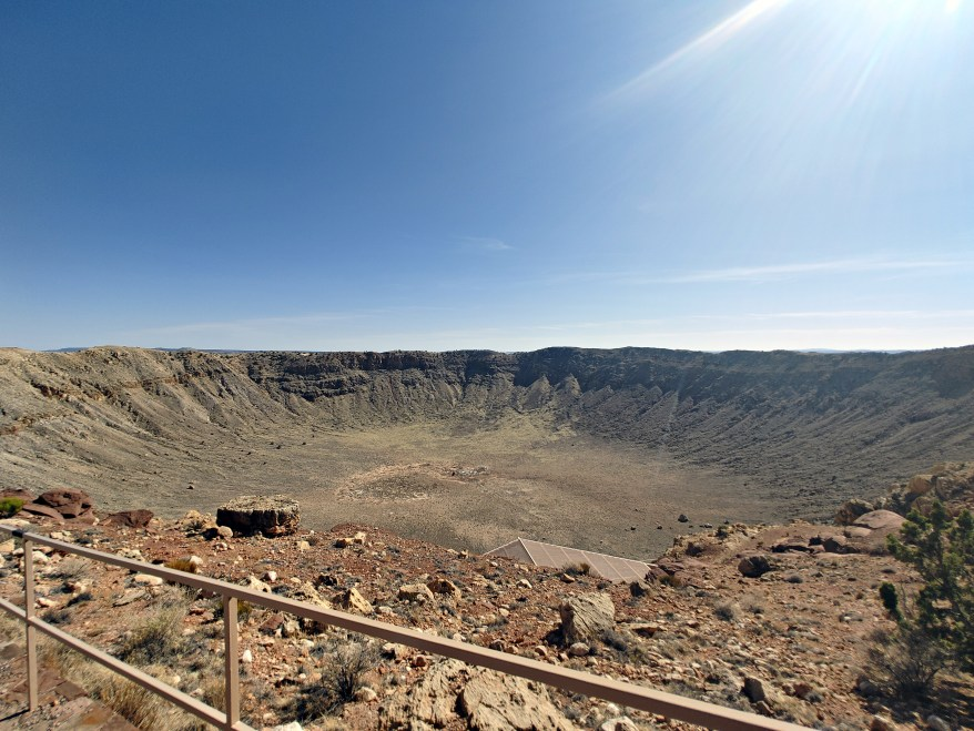 meteor crater national landmark, view from observation deck