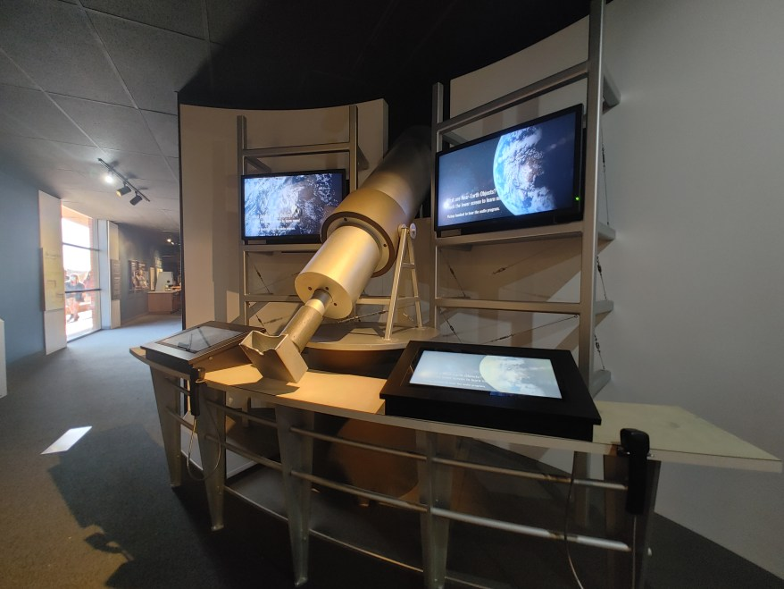 museum exhibit at Meteor Crater National Landmark
