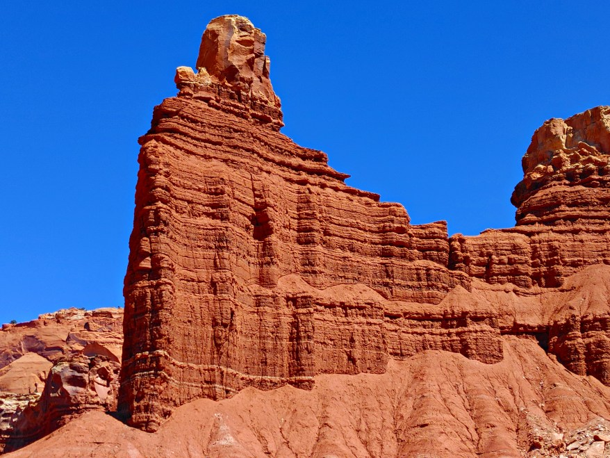 Chimney Rock, Capitol Reef National Park with kids