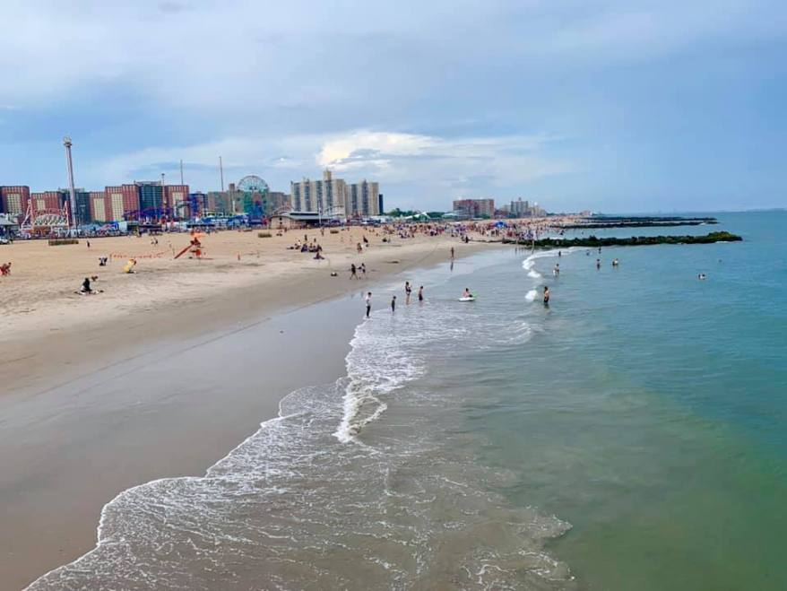 visiting coney island with kids