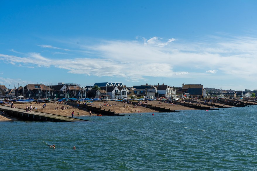 Whitstable Beach, family friendly cities in England