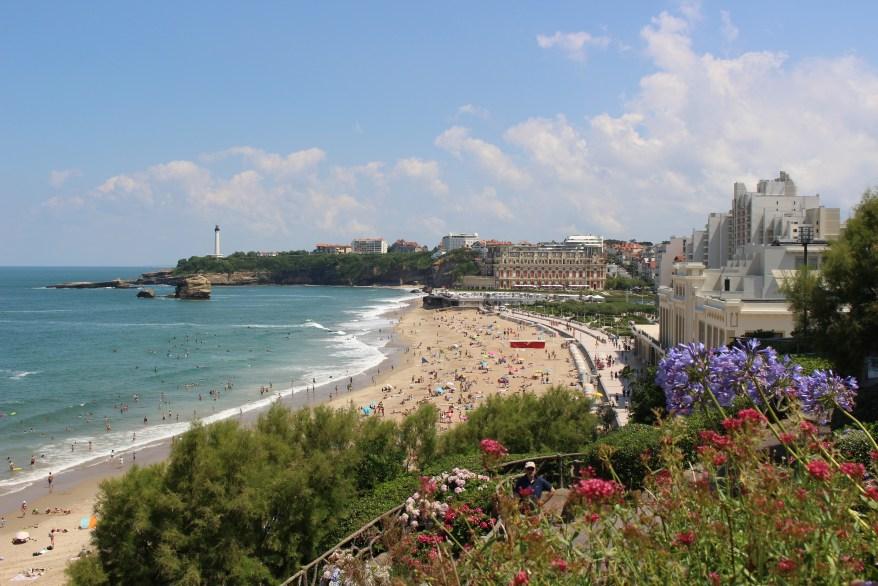 Biarritz, city and beach
