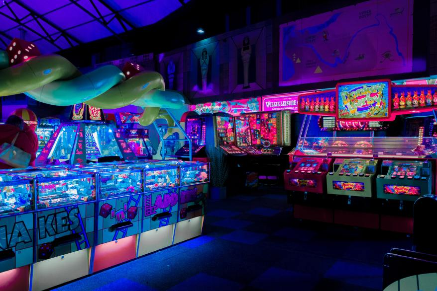 arcade games, long island with kids