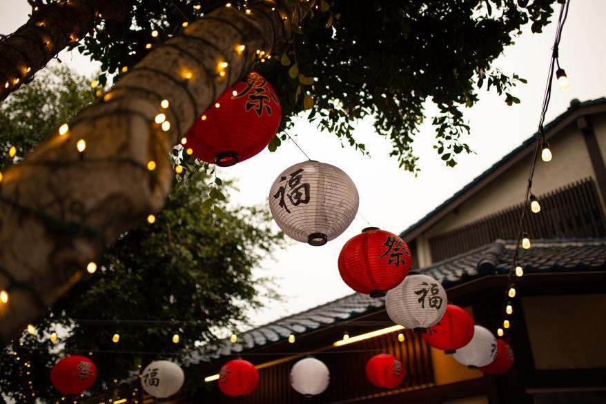 Little Tokyo: Where to Dine, decorative paper lanterns in Little Tokyo