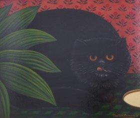 Martin Leman - Cat that got the Cream - POA